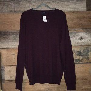 Dark burgundy sweater